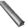 Madlová tyč dutá 51 x 50 x 1,5 mm, vzor kůra, 3000 mm/6000 mm