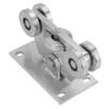 Nerezový vozík PICCOLO do profilu (68x68 mm) pro samonosné brány do 200 kg / otvor: 4.5 m, nerez bez povrchové úpravy / AISI304