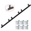 Hřeben nylon-kov 30 x 20 mm, 6x úchyt + šrouby,  1000 mm, do 600 kg