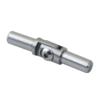 Spoj nastavitelný (0-100°) plný materiál, s kloubem, na trubku ø 12 mm, broušená nerez K320 / AISI304