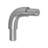 Spoj obloukový 90° (plný materiál) na trubku ø 12 mm, broušená nerez K320 / AISI304