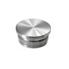 Ukončení - zátka na trubku ø 33.7 mm, broušená nerez K320 / AISI304