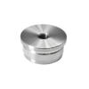 Ukončení - zátka (závit M8) na trubku ø 33.7 mm, broušená nerez K320 / AISI304
