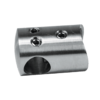 Držák tyče spojovací ø 12 mm přechodný na trubku ø 42.4 mm (30x22 mm), broušená nerez K320 / AISI304