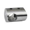 Držák tyče ø 16 mm na trubku ø 42.4 mm (30x25 mm), broušená nerez K320 / AISI304