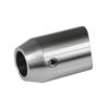 Držák tyče ø 12 mm koncový na naražení na trubku ø 42.4 mm (33x22 mm), broušená nerez K320 / AISI304