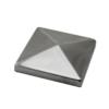 Ukončení stříška na jekl (80x80 mm), broušená nerez K320 / AISI304