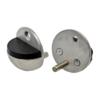 Nerezový doraz dveří s gumou (ø 44x25 mm), broušená nerez K320 / AISI304