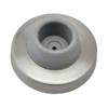 Nerezový doraz dveří s gumou (ø 57x24 mm), broušená nerez K320 / AISI304