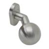 Koule ke klice s oválnou rozetou, pevná, bal.: 1 ks, broušená nerez K320 / AISI304
