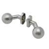 Koule ke klice s oválnou rozetou, otočná, bal.: 1 pár, broušená nerez K320 / AISI304