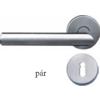 Klika nerezová, pár, pro dozický zámek, broušená nerez K320 / AISI304