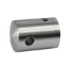 Držák lanka ø 5 mm přechodný, plochý (30x22 mm), broušená nerez K320 / AISI304