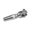 Úchyt pro nerezové lanko 4 mm, broušená nerez K320 / AISI304