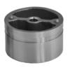 Mezikus (ø 38 mm) na dřevěné madlo EDB-S a nerezové ukončení madla EB1-ND41, nerez bez povrchové úpravy / AISI304