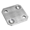 Deska na boční kotvení sloupu (80x80x6 mm) broušená nerez K320 / AISI304