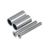 Přechod na vymezení vzdálenosti mezi sloupem (plochý) a kotevní deskou, ø 20x2,0 mm /L:45 mm, vnitřní šroub: M8x70 mm, broušená nerez K320 / AISI304, bal: 2ks