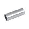 Přechod na vymezení vzdálenosti mezi sloupem (plochý) a kotevní deskou, ø 20x2,0 mm /L:55 mm, bez vnitřního šroubu, broušená nerez K320 / AISI304, bal: 1ks