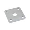 Kotevní deska navařovací k nastavit. pantem (100x100x5 mm), otvor ø 25 mm, broušená nerez / AISI304