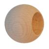 Dřevěná kulička ø 20 mm na ukončení trubky ø 12 mm, materiál: buk, broušený povrch bez nátěru