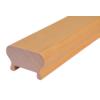 Dřevěný profil (62x43 mm / L: 2300 mm), materiál: buk, broušený povrch bez nátěru, balení: PVC fólie