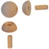 Dřevěný spojovací kloub (ø 42 mm), nastavitelný (úhel 0° - 90°), materiál: buk bez povrchového nátěru