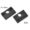 Gumička na sklo 10,0 mm, balení: 2ks / k držáku EB1-AP06, EB1-AP46