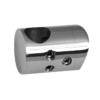 Držák tyče ø 12 mm (spojovací-přechodný) na trubku ø 42.4 mm (30x22 mm), leštěná nerez /AISI304