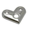 Dopojovací deska (úhel 90°) na trubku ø 42.4 mm, leštěná nerez / AISI304