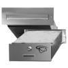 Schránka poštovní do zdi (275x90x400 mm), max. formát listu: A4, leštěná nerez /AISI430