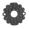 Štítek ke klice ø60 mm, tloušťka 3 mm, černá galvanizace