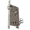 Zámek dozický, hloubka 80 mm, rozteč 90 mm, 2x klíč