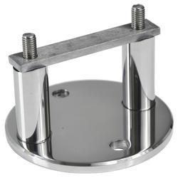 Úchyt na boční kotvení sloupu ø 42,4 mm (ø 100 / 8,8 mm), leštěná nerez / AISI304 - 1