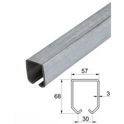 Mono kolejnice GRANDE 57 x 68 x 3 mm pro závěsný systém Combi Arialdo, prodávané pouze ve 2 m, 3 m a 6 m délkách - 1