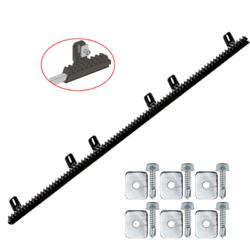 Hřeben nylon-kov 30 x 20 mm, 6x úchyt + šrouby,  1000 mm, do 600 kg - 1