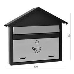 Schránka poštovní (400x365x75mm) nerez / černá, max. formát listu: C4, le