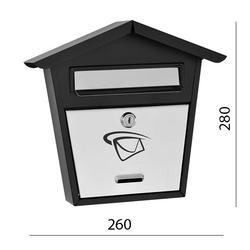 Poštovní schránka (260x280x60mm) nerez / černá, max. formát listu: B6, le