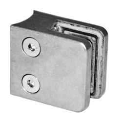 ZAMAK svorka skla na trubku ø 42.4 mm (45x45x26 mm) materiál: slitina AL / ZN, bez povrchové úpravy (možnost lakování), balení neobsahuje gumičky na sklo - 1