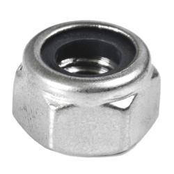 Nerezová matice (M10 mm) šestihranná, pojistná, vysoká s PA vložkou, DIN 982/A2 / AISI304