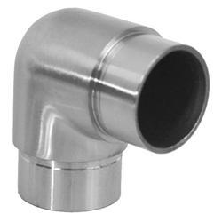Spojka - rohová 90° na trubku ø 42,4 mm, broušená nerez K320 / AISI316 - 1