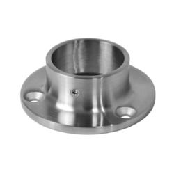 Příruba madla (ø 80x25 mm) na trubku ø 42.4 mm, broušená nerez K320 /AISI304 - 1