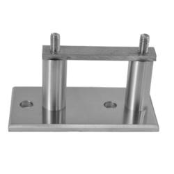 Úchyt na boční kotvení sloupu ø 42,4 mm, (kotevní deska 120x60x10 mm), nerez broušená K320 / AISI304 - 1
