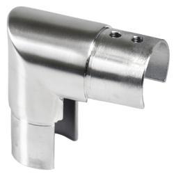 Přechod - koleno 90° (ø 42.4x1,5 mm) na madlo EB1-HM42, lepený spoj, broušená nerez K320 / AISI304 - 1