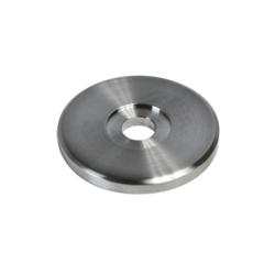 Deska na boční kotvení sloupu (ø 50x5 mm), otvor ø 10,5 mm, broušená nerez K320 / AISI304 - 1