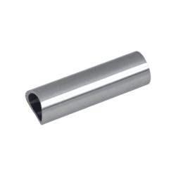 Přechod na vymezení vzdálenosti mezi sloupem ø 42,4 mm a kotevní deskou, ø 20x2,0 mm /L:65 mm, bez vnitřního šroubu, broušená nerez K320 / AISI304, bal: 1ks - 1
