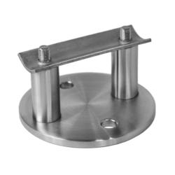 Úchyt na boční kotvení sloupu ø 42.4 mm (ø 100/8.8 mm), broušená nerez K320 / AISI316 - 1