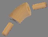 Dřevěný spojovací oblouk (ø 42 mm / 45°), materiál: buk, broušený povrch bez nátěru - 1
