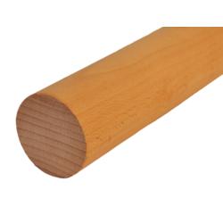 Dřevěný profil kulatý (ø 42 mm / L: 2000 mm), materiál: buk, broušený povrch bez nátěru, balení: PVC fólie - 1