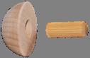 Dřevěné ukončení madla (ø 42 mm), dřevo: buk bez povrchového nátěru - 1