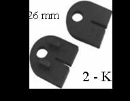Gumička na sklo 6,76 mm, balení: 2 ks / k držáku EB1/EB2/EL1-0100 / 4100 - 1